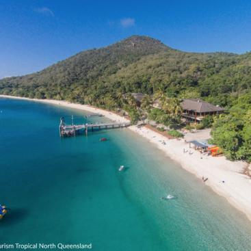 Aerial view beautiful Fitzroy Island
