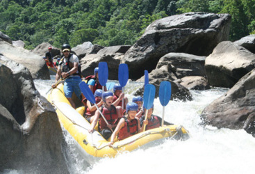 White water rafting on the Tully River, Tropical North Queensland
