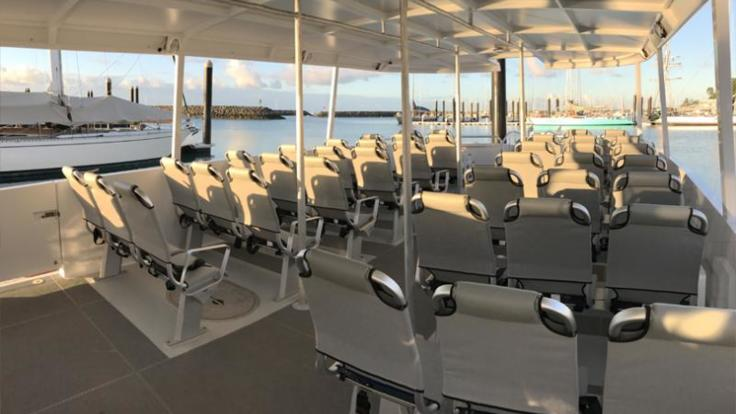 Seating onboard | Whitehaven Day tour