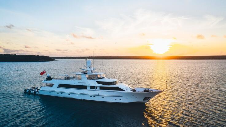 YOTSPACE superyacht voyages - Phoenix One at anchor Great Barrier Reef