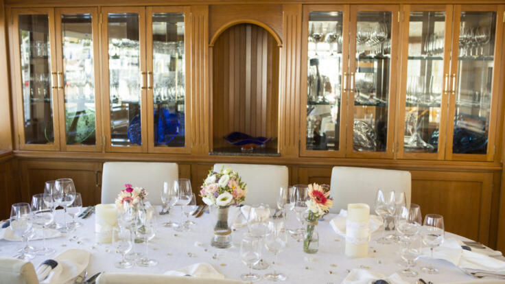 YOTSPACE superyacht voyages - Phoenix One - Dinner Setting - Saloon