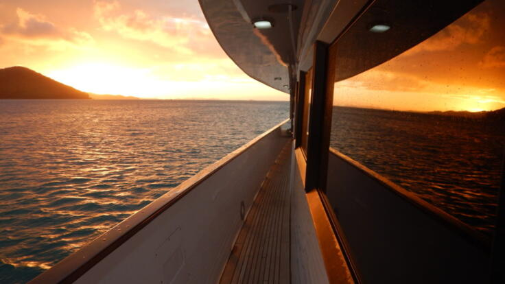 YOTSPACE superyacht voyages - Phoenix One - Sunset - Great Barrier Reef
