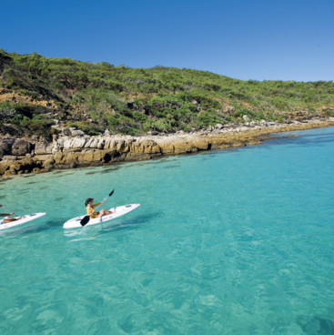 Kayaking, Monkey Beach, Great Keppel Island