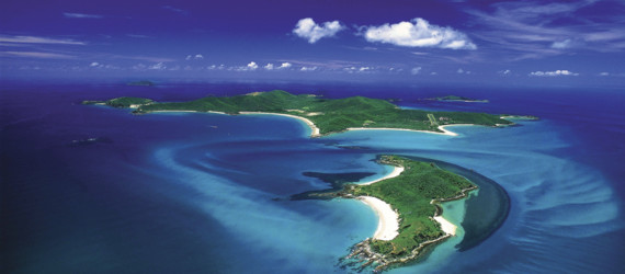 Aerial of Great Keppel Island
