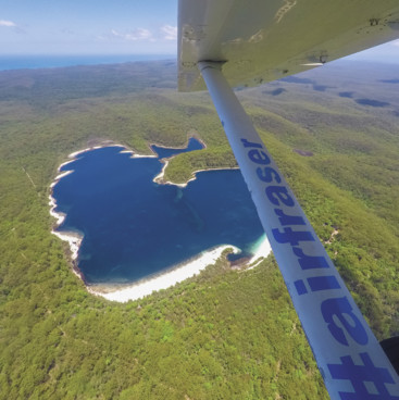 Aerial of Lake McKenzie, Fraser Coast