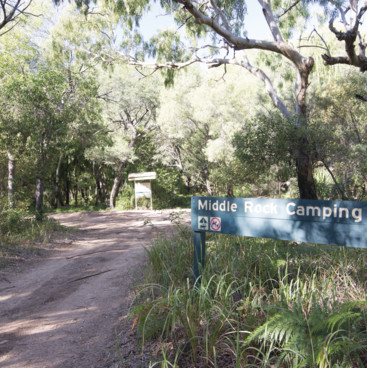 Middle Rock Camping Area, Gladstone Region