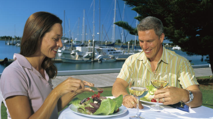 Dining at Gladstone marina