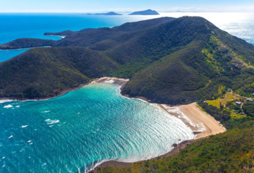 Bird's eye view of Keswick Island, Mackay