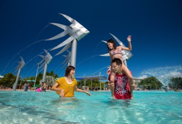 Swimming in Cairns Esplanade Lagoon