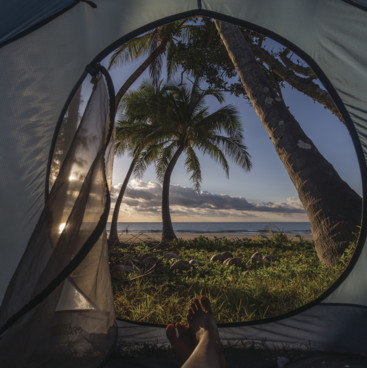 Camping at Mission Beach, Tropical North Queensland