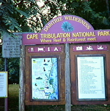 Cape Tribulation National Park sign