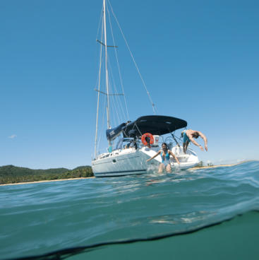 Swimming and sailing off Dunk Island, Tropical North Queensland