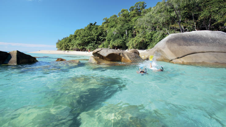 Snorkelling off Fitzroy Island, Tropical North Queensland