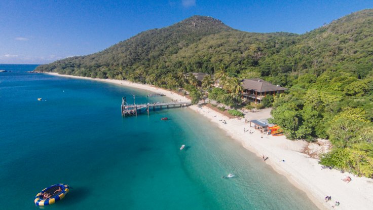 Aerial view of Fitzroy Island, Tropical North Queensland
