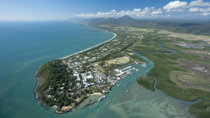 Aerial view of Port Douglas, Tropical North Queensland