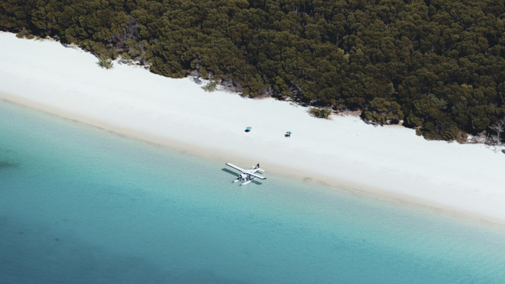 Whitehaven Beach aerial, Whitsunday Islands
