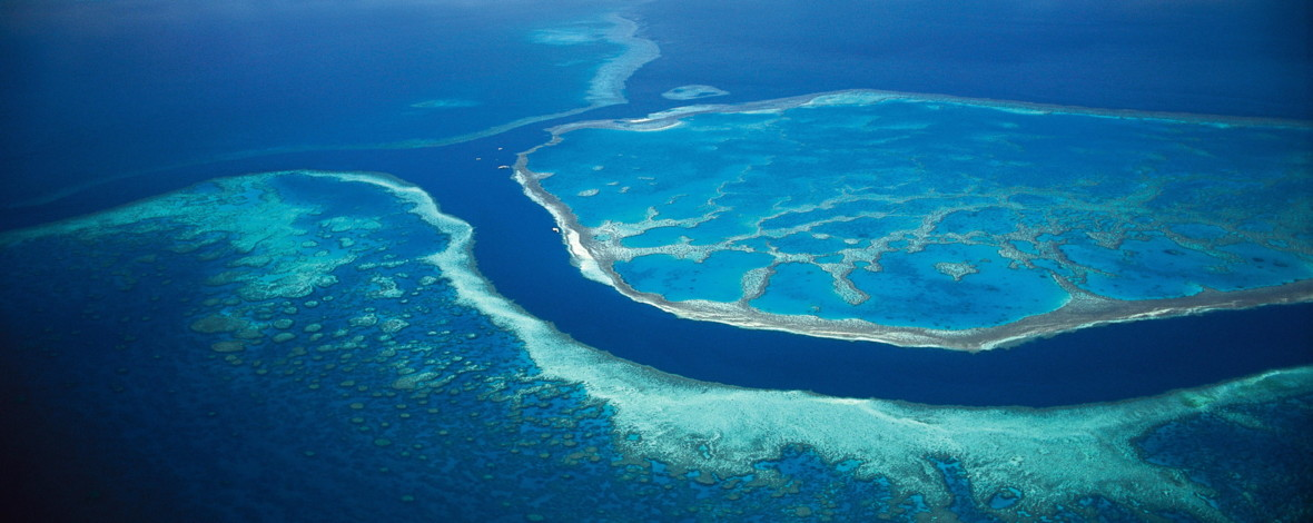 Aerial of Hardy Reef, Whitsunday Islands