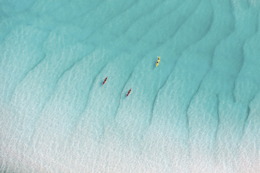 Kayaking, Whitehaven Beach, Whitsunday Islands