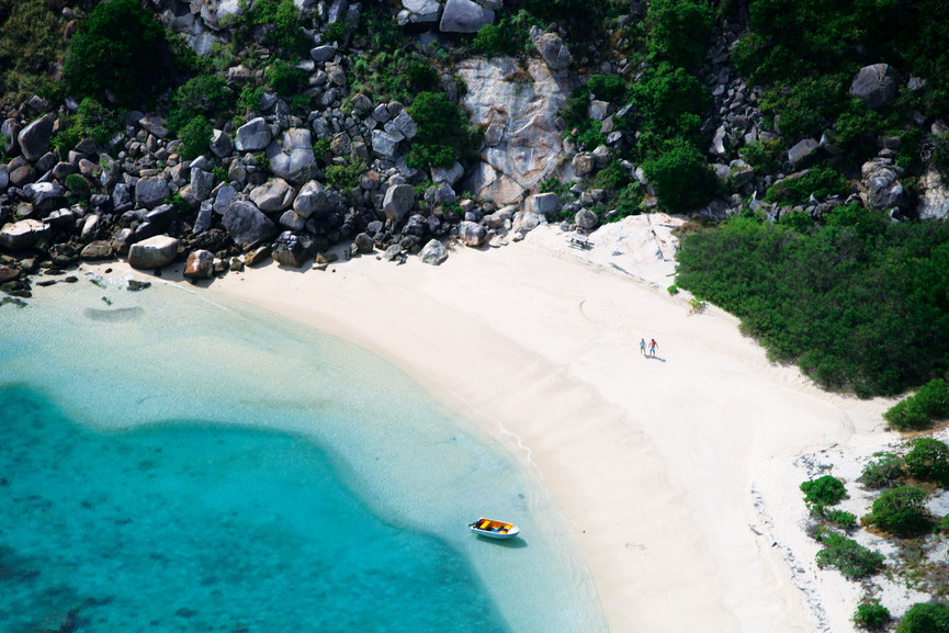 Aerial of Lizard Island, The Wild North