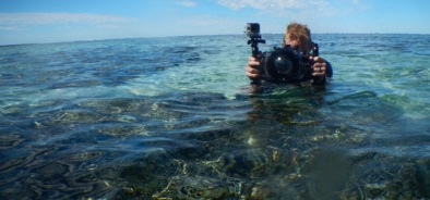 Ben Southall photographing the Great Barrier Reef in Australia