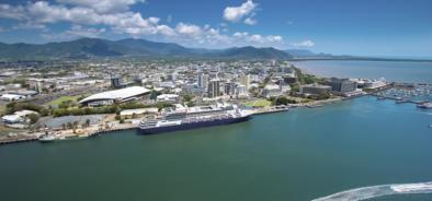 Aerial View over the Trinity Inlet in Cairns