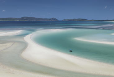 Whitehaven Beach Hill Inlet - Whitsunday Islands - Great Barrier Reef Australia