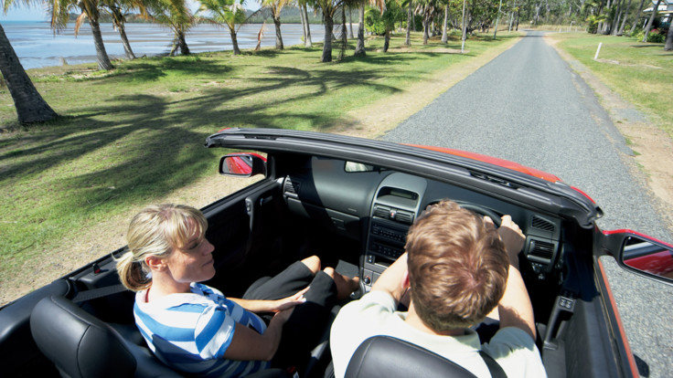 Driving the beach road - Seaforth Beach, Mackay